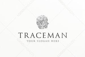 Trace Man Logo template