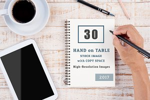 30 Hand on Table Stock Images