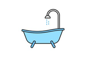 Bathtub color icon