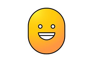 Laughing smile color icon