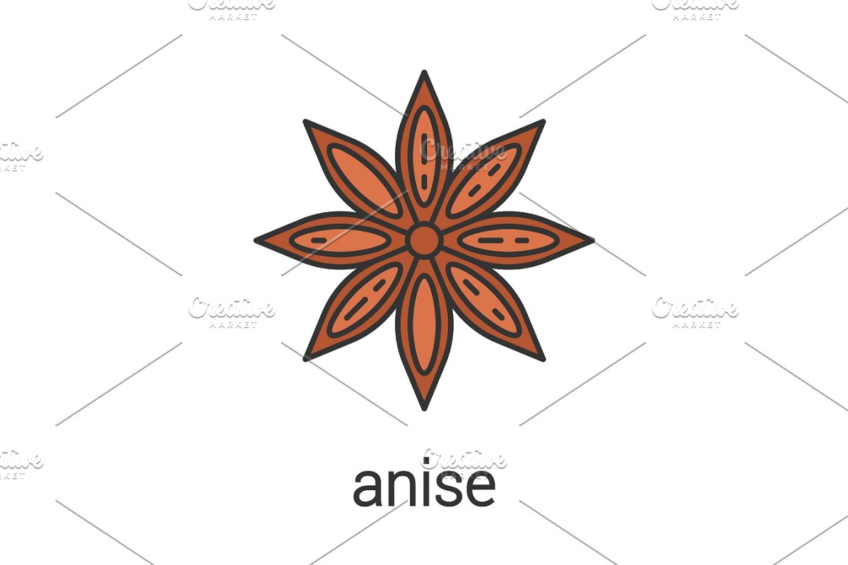 Anise color icon in Icons - product preview 8