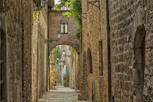 Italian cobblestone street