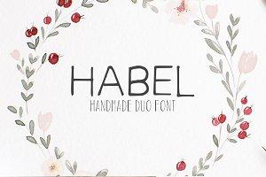 Habel Handmade Duo Font + Bonus Free