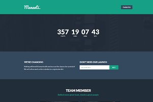 Menanti - Bootstrap Landing Page
