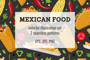 Mexican food set and patterns