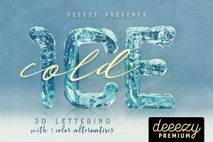 Ice Cold - 3D Lettering