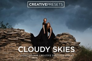 30 Cloudy Sky Overlays