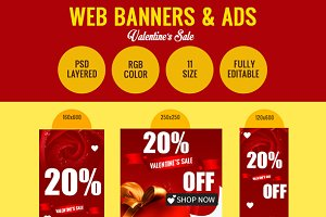 Valentine's Day Sale Banners!
