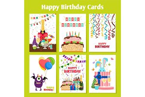 Birthday cards set