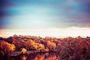 Autumn landscape of  City Park