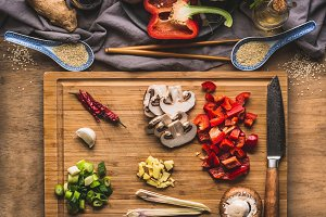 Ingredients for asian cuisine
