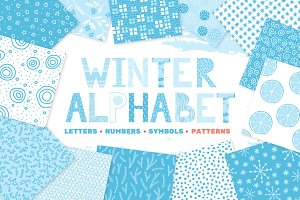 Winter alphabet and patterns