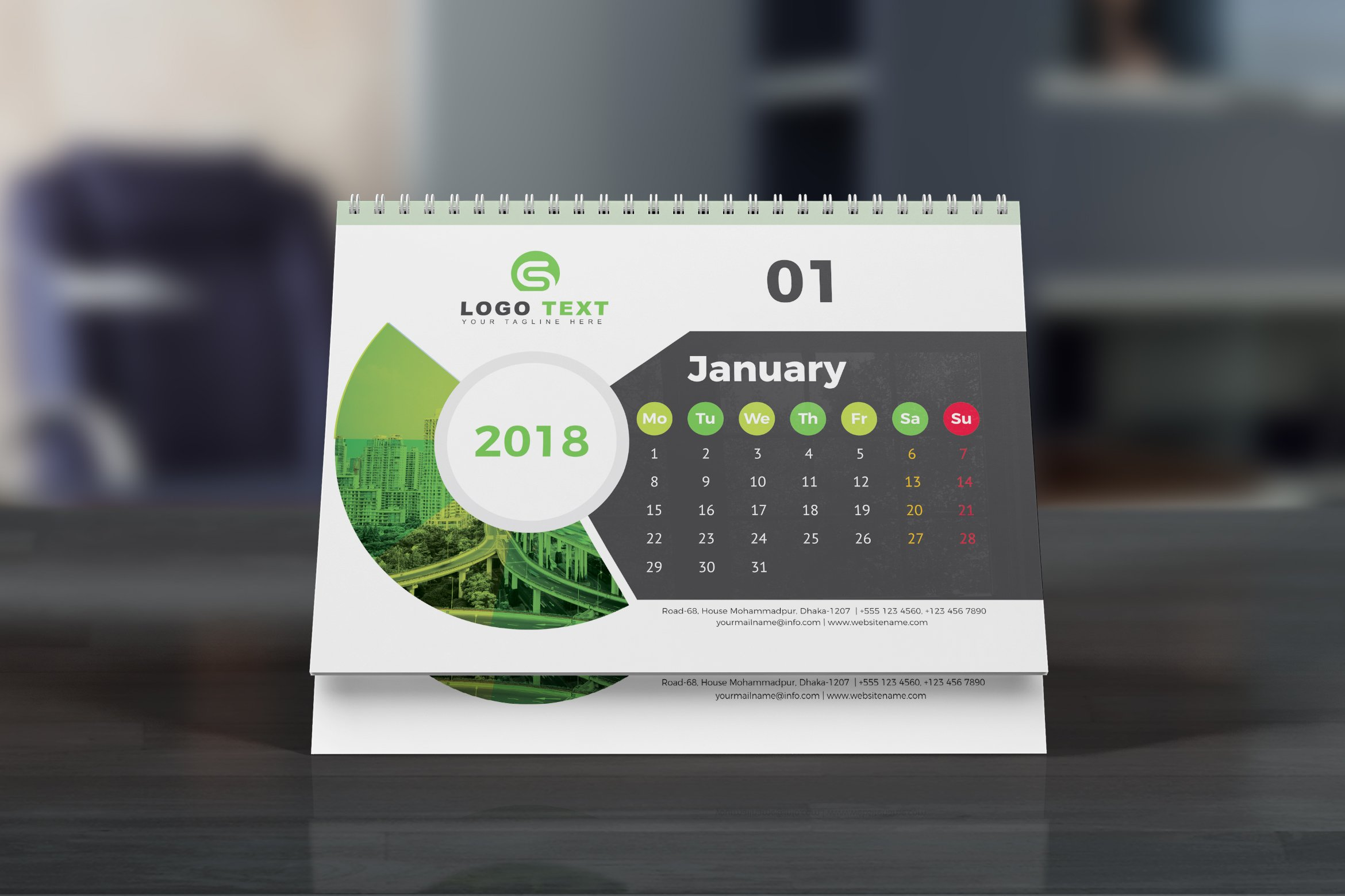 Calendar Design Services : Desk calendar stationery templates creative market