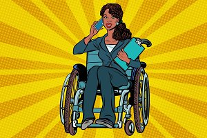 Beautiful African woman disabled businesswoman
