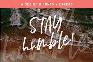 Stay Humble Font Family + Extras