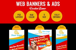 Summer Vacation Sale Banner Design