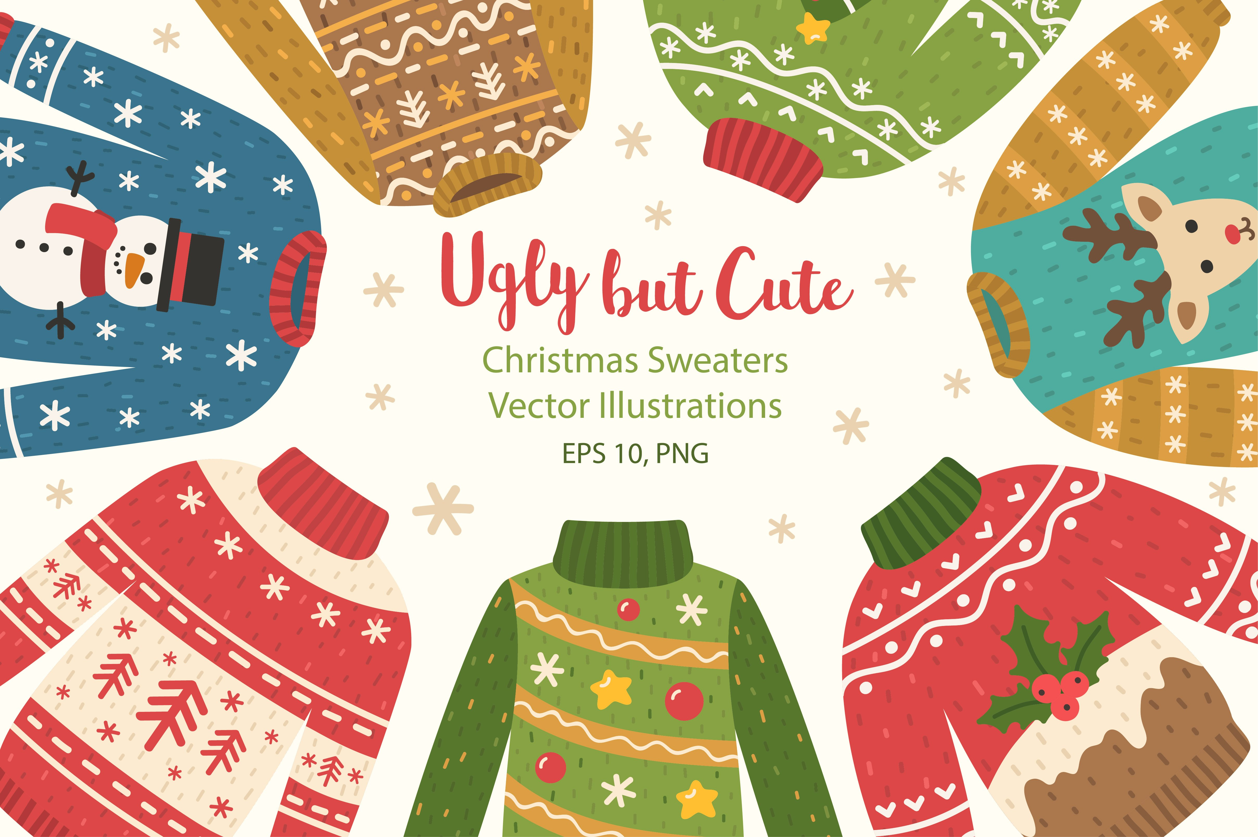 Ugly Christmas Sweaters Illustrations Creative Market