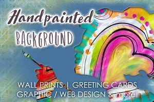 Handpainted abstract background 2