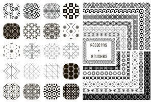 20 Patterns and 13 Pattern Brushes
