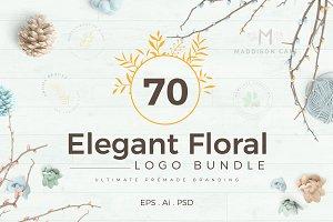 70 Elegant Floral Logo Bundle