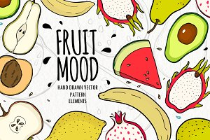 Vector collection - Fruit Mood