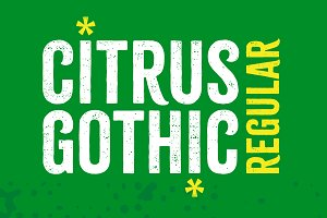Citrus Gothic Regular - 65% Off