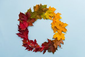 Autumn wreath, background