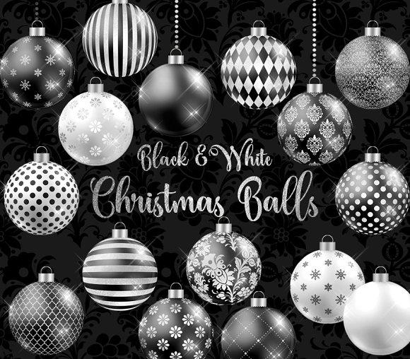 black and white christmas balls - Black And White Christmas Ornaments