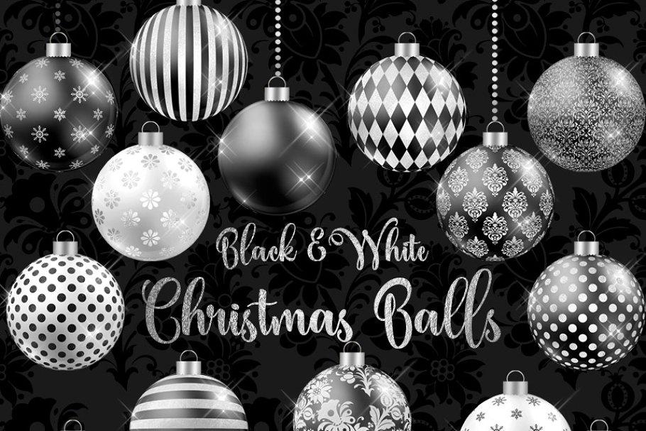 Black Christmas Balls.Black And White Christmas Balls