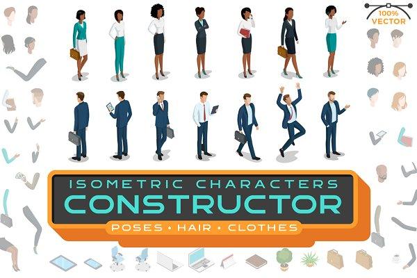 Isometric Characters Constructor Ki…
