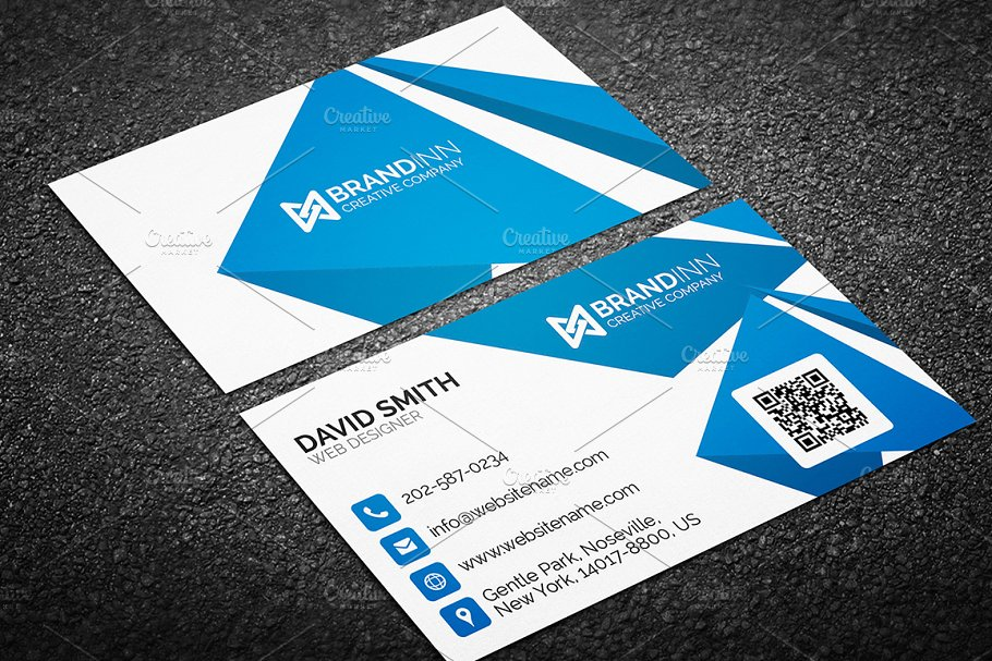 Creative Abstract Blue Business Card - Business Card Templates ...