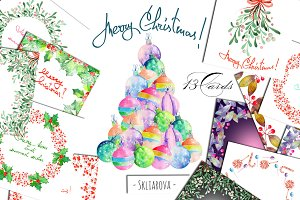 Merry Christmas! 13 postcards