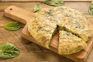 Omelete with spinach
