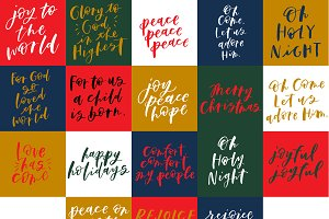 Hand Lettered Christmas Messages