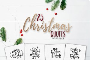 Christmas SVG quotes and overlays