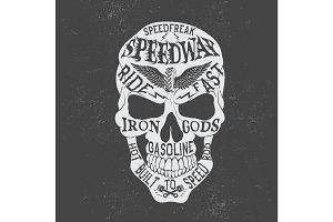 Retro skull logo
