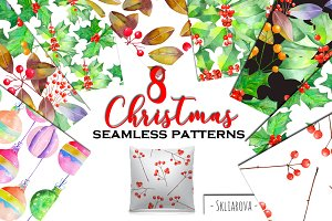 Christmas floral patterns.