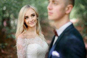 Stunning blonde bride