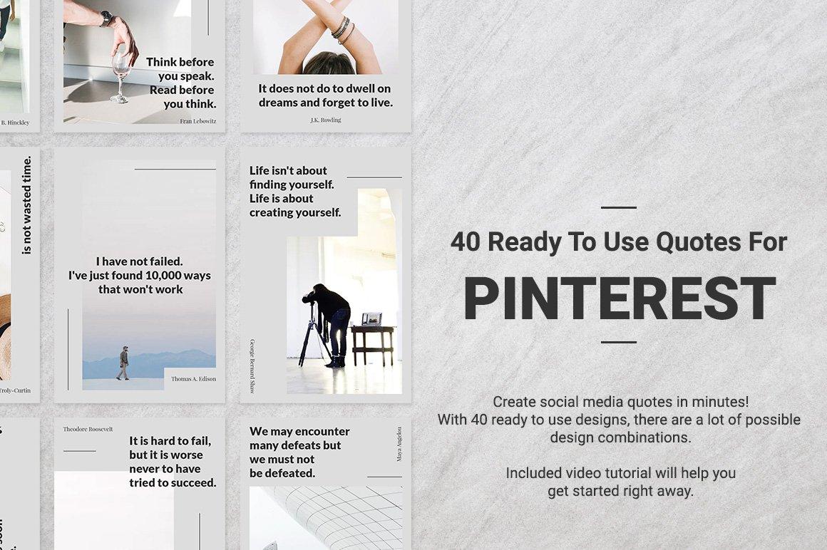 40 Pinterest Quotes