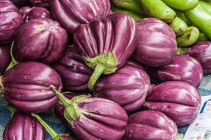 background of eggplant purple