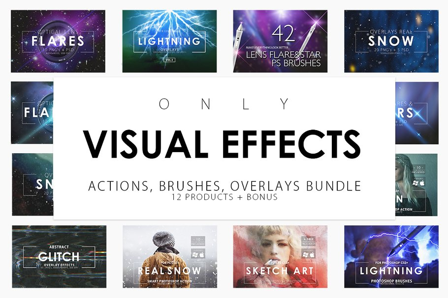 Only Visual Effects Bundle ~ Illustrator Add-Ons ~ Creative