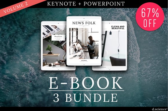 3X Ebook Bundle Templates  -Graphicriver中文最全的素材分享平台