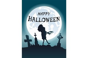 Happy Halloween Scary Congratulation Postcard