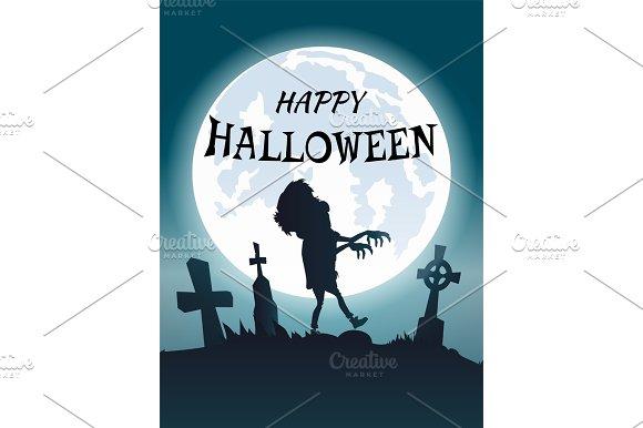 Happy Halloween Scary Congratulation Postcard