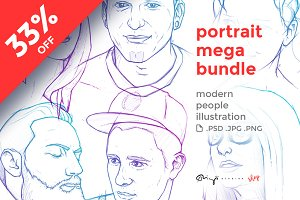 People portraits mega bundle