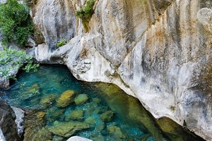 Pristine waters of Sapadere canyon