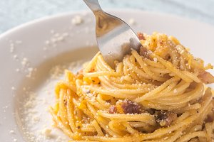 Portion of Carbonara