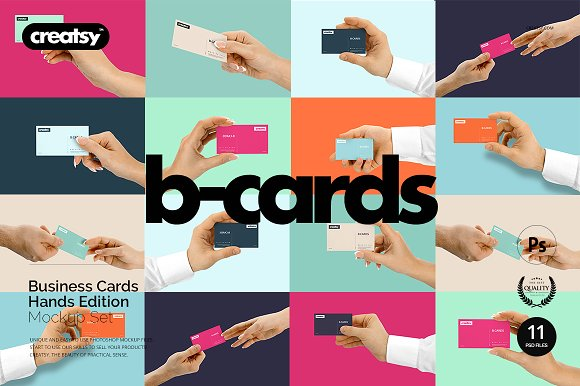 Download Business Cards Mockup Hands Edition