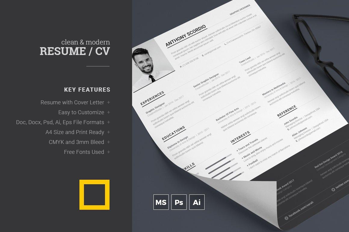 Resume ~ Stationery Templates ~ Creative Market