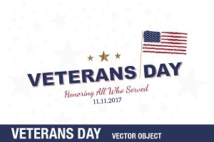 Happy Veterans Day. Greeting Card
